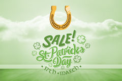 Composite image of st patricks day sale ad Royalty Free Stock Image