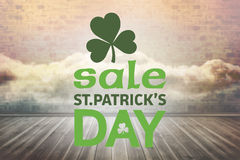 Composite image of st patricks day sale ad Stock Image