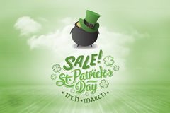 Composite image of st patricks day sale ad Stock Photos