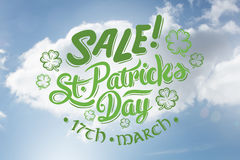 Composite image of st patricks day sale ad Royalty Free Stock Photos