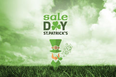 Composite image of st patricks day sale ad Stock Photo