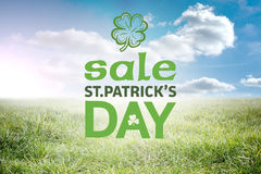 Composite image of st patricks day sale ad Royalty Free Stock Images
