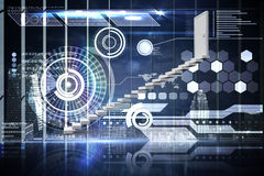 Composite image of stairs leading to door Stock Image
