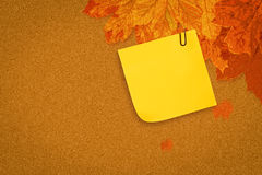 Composite image of  sticky note with grey paperclip Stock Photos