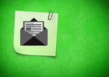 Composite image of Sticky Note Mail Email Icon Royalty Free Stock Images