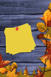 Composite image of sticky note with red pushpin Stock Photos
