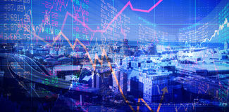 Composite image of stocks and shares Stock Photo