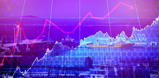 Composite image of stocks and shares Stock Image