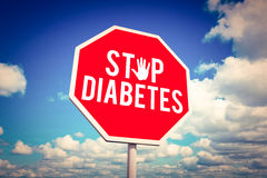 Composite image of stop diabetes royalty free stock photos
