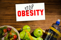 Composite image of stop obesity Stock Image