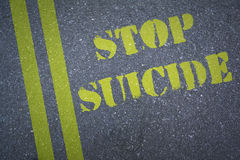 Composite image of stop suicide Stock Photo