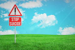Composite image of stop suicide Royalty Free Stock Photo