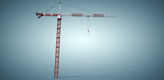 Composite image of studio shoot of a crane Stock Photography