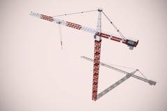 Composite image of studio shoot of a crane Stock Photography