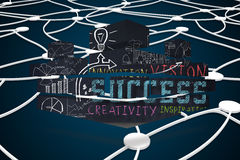 Composite image of success brainstorm on abstract screen Royalty Free Stock Images