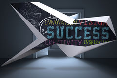 Composite image of success plan on abstract screen Stock Photography