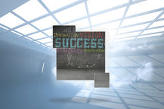 Composite image of success plan on abstract screen Royalty Free Stock Photos