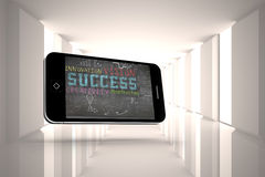 Composite image of success plan on smartphone screen Royalty Free Stock Image