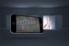 Composite image of success plan on smartphone screen Stock Image