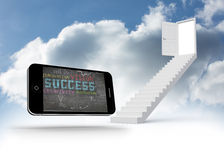 Composite image of success plan on smartphone screen Royalty Free Stock Photography