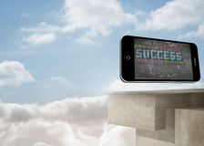 Composite image of success plan on smartphone screen Royalty Free Stock Photo