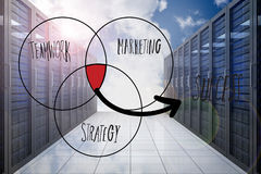 Composite image of success venn diagram Royalty Free Stock Images