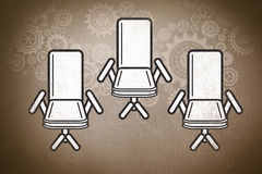 Composite image of swivel chair Royalty Free Stock Image