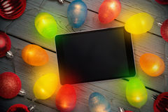 Composite image of tablet pc Stock Photos