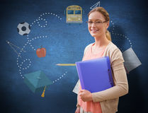 Composite image of teaching student Stock Image