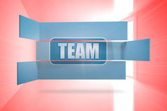 Composite image of team banner on abstract screen Royalty Free Stock Photo