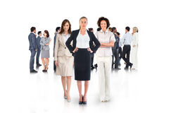 Composite image of team of businesswomen looking at camera Royalty Free Stock Photography