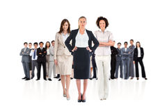 Composite image of team of businesswomen looking at camera Stock Photos