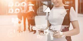 Composite image of technology interface Royalty Free Stock Photography