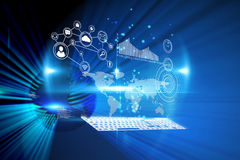 Composite image of technology interface Stock Photography