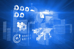Composite image of technology interface Stock Images
