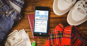 Composite image of telephone job application app Royalty Free Stock Photo