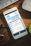 Composite image of telephone job application app Stock Images