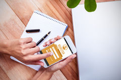 Composite image of telephone register application Royalty Free Stock Photo