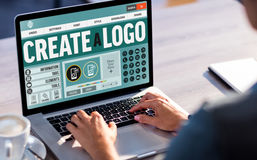 Composite image of text and icons on web page stock photography