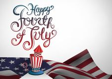 Composite image for the 4th of July with american flag Royalty Free Stock Photo