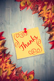 Composite image of thank you Royalty Free Stock Photo