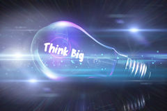 Composite image of think big Royalty Free Stock Photo