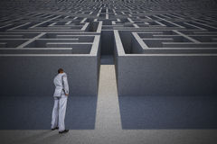 Composite image of thinking businessman Stock Photo