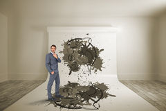 Composite image of thinking businessman Royalty Free Stock Images