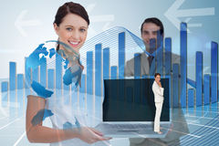 Composite image of thinking businesswoman Stock Photography