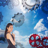 Composite image of thoughtful businesswoman Stock Images
