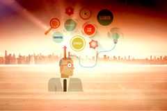 Composite image of thoughts of businessman Royalty Free Stock Images