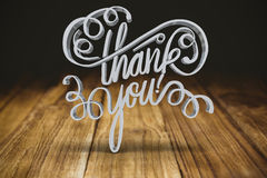 Composite image of three dimensional of thank you text royalty free illustration