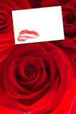 Composite image of three red roses Royalty Free Stock Photography