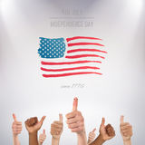 Composite image of thumbs up Stock Images